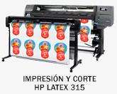 HP Latex y Printer Flatbed 315