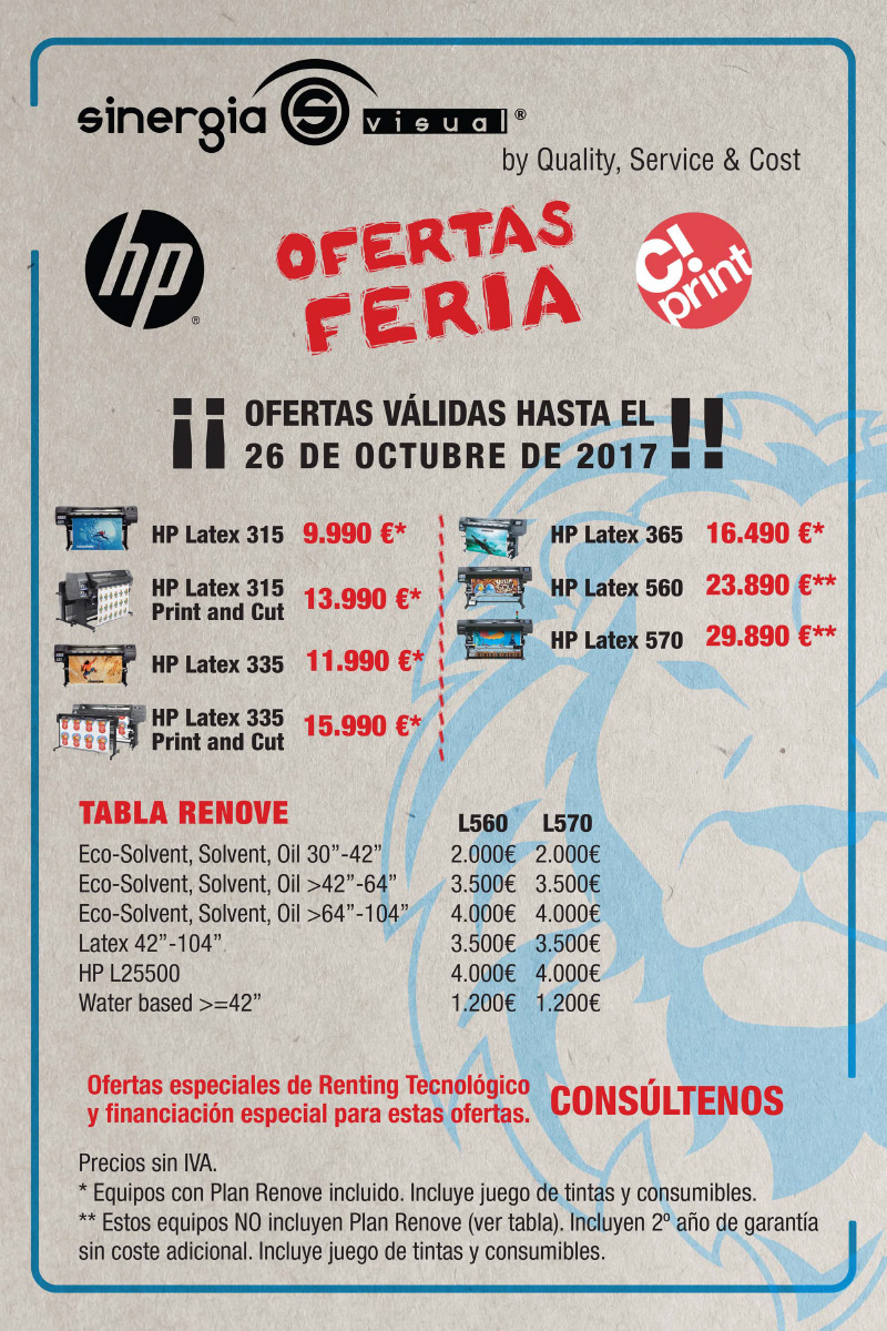 Oferta HP Latex C!Print